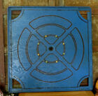 Vintage Unique Wood Game Board gameboard with Original Blue Paint   Pegs
