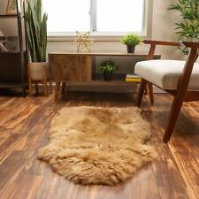 Pure Sheepskin Rug Genuine Shag Rug Honey Brown Carpet Single Pelt (2ft. X 3ft.)