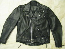 Harley Davidson Motorcycle Leather Jacket Black Shovelhead Biker USA Made M 40