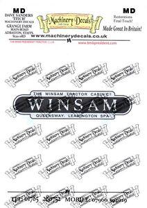 WINSAM TRACTOR CAB DECALS