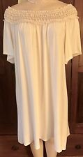 WOMENS PLUS DRESS 3X IVORY TUNIC NEW 22 24 XXXL LACE OFF SHOULDER NWT SUMMER