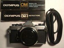 Olympus Om-1 MD slr Camera Body + Original Strap + Manuals