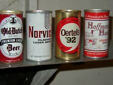 4 Diff Tough Pt Beer Cans '60s Oertels '92 Hoffman House Norvic Old Dutch Nm