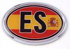 Spain ES Spanish Flag Car Chrome Emblem Bumper Sticker flag decal oval