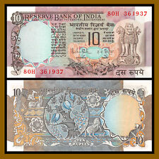 India 10 Rupees, ND 1985-1990 P-81 Sig# 85 Peacock Unc with Pinholes