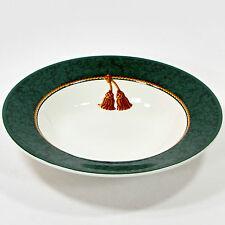 Hallmark HOLIDAY ABUNDANCE 12oz Soup Bowl Christmas Sakura Green Gold Tassel