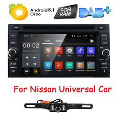 Android 8.1 For NISSAN Sentra Versa Car CD DVD 2 DIN Stereo GPS System Radio+Cam