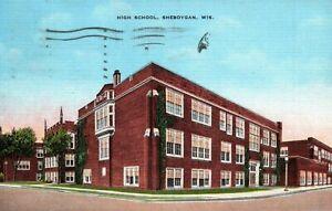 Sheboygan Wisconsin WI High School Vintage Postcard