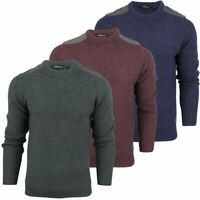 Mens Fashion Dissident 'Gatton' Wool Mix Crew Neck Knit Jumper/ Sweater