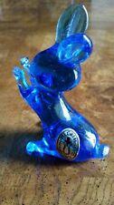 Vtg. Pilgram Blue Glass Rabbit