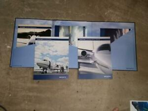 Netjets Advertising Sales Brochures in Tri-Fold Holder with Inserts