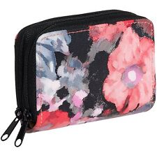 New Buxton Wizard Women RFID Floral Leather Credit Card ID Wallet