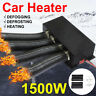 1500W Car Auto Heat Cooling Fan 2 In 1 Portable Defroster Demister 12V 4-Hole