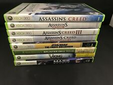 Lot of 8 XBox 360 CIB Games Assassin's Creed Star Wars Viking Splinter Cell