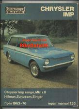 Hillman 1963 Year Car Service & Repair Manuals