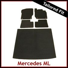 Tailored Carpet Floor & Boot Mats for MERCEDES ML W164 Mk2 2005-2011 BLACK