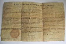 John Quincy Adams 1826 Signed Land Grant President Document Ohio Autograph