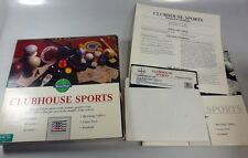 Commodore 64/128: CLUBHOUSE SPORTS - C64 disk & BOX TESTED - Mindscape