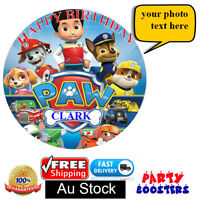 PAW PATROL LOGO EDIBLE WAFER PRINT CAKE TOPPER BIRTHDAY DECORATIONS 20CM