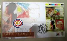 2015 POPE FRANCIS Stamps  4 VALUEon FDC Vatican Philippines with COLORGUIDE B/4