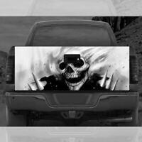 Grim Reaper SKull B/W Tailgate Wrap Graphic Vinyl Decal Sticker Pickup Truck SUV