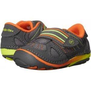 NIB STRIDE RITE Athletic Shoes Soft Motion Memory Foam Link Gray Orange 3 M todd