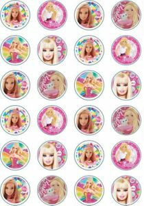 24 x Edible Cupcake Toppers - Rice / Wafer Paper - Perfect for Barbie Fans