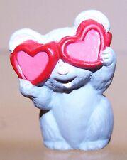 1990 New Hallmark Valentine Merry Miniature Grey Mouse Mint Never Used Qsm1533