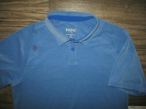 Rhone Blue Polo Shirt MED