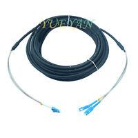 30M Outdoor Waterproof Field Fiber Patch Cord  LC to SC  LC-SC SM 9/125  Duplex