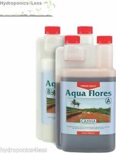 Canna Aqua Flores 1 Litre 1L A+B Flower Bloom Plant Nutrients Hydroponics