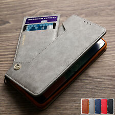 iPhone 11 Pro Max XR XS X Magnetic Flip Leather Wallet Card Case Kickstand Cover