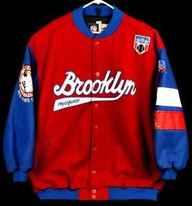 Men's HEADGEAR Brooklyn Royal Giants Negro League Wool Letterman Jacket 5XL MLB