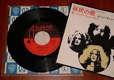 "LED ZEPPELIN IMMIGRANT SONG *RARE* 7"" VINYL ATLANTIC WARNER PIONEER 1979 JAPAN"