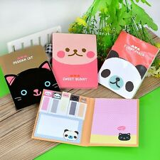 Mini Cute Animals Sticky Notes Sticker Bookmark Memo Point It Marker Note Pad