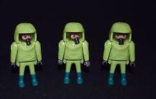 playmobil lot de 3 personnages scientifique combinaison verte