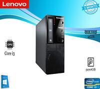 LENOVO E73 SFF Intel i3-4160 500GB 3.60GHZ-4GB Windows 10 PRO OFFICE PC Desktop