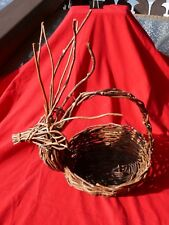 Adirondack Buck Deer TWIG BASKET For Indoor House Plant Containers or Storage