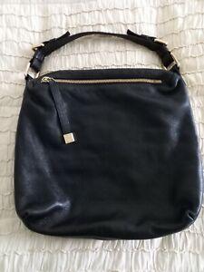 Women's Coccinelle Black Pebble Leather Slouchy Bag