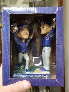 """Chicago Cubs """"The Final Out 2016 World Series Bryant & Rizzo Bobblehead 2017"""