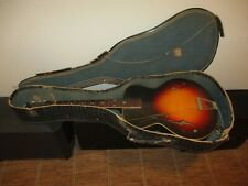 VINTAGE SUNBURST ARCHTOP WEISS SUPERIOLA MODEL 100 ACOUSTIC GUITAR W/ CASE AS IS