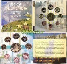 SLOVÉNIE MÉDAILLES EURO ESSAI 2004 - coffret contenant 9 piéces neuves UNC PROBE