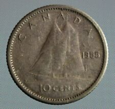 1955 Canada dime - this 10 cent coin is 80% silver