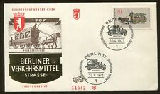 1973 Berlin Germany - Means of Transportation - Horse Omnibus - First Day Cover