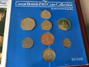 The Great British 1983 Coin Collection set Uncirculated in Presentation Pack