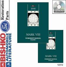 1998 Lincoln Mark Vlll Shop Service Repair Manual CD