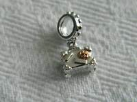 Clogau Sterling Silver & 9ct Welsh Gold Suitcase Bead Charm