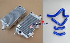 For Kawasaki KLX650 1993 1994 1995 1996 Aluminum radiator & silicone hose BLUE