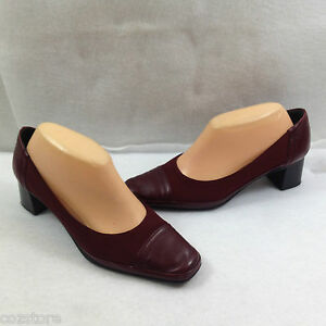 Rangoni Firenze Leather and Fabric Pumps Shoes Womens Size 8.5 B