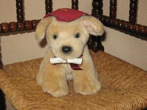 Russ Berrie Graduation Golden Lab Puppy Dog Plush 1145